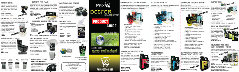 Phix Doctor Ding Repair Kits and Ding Repair Resins 2017 Brochure